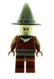 Scarecrow with Glow in the Dark Head From Batman - Custom Designed Minifigure